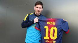 Messi le envía a Gerd Müller una camiseta dedicada