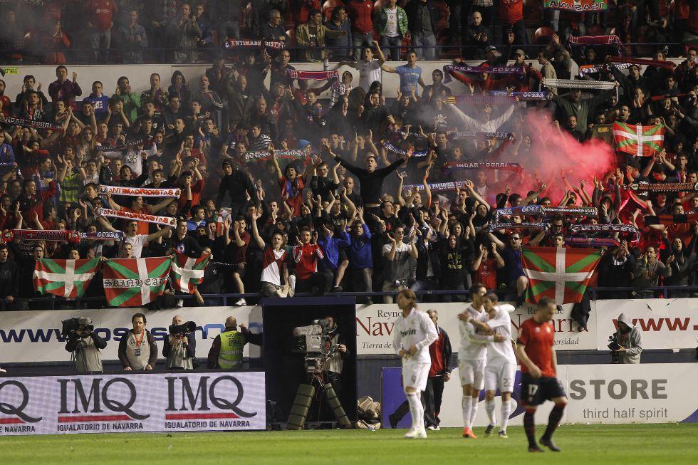 El Sadar dobla la seguridad ante la llegada del Real Madrid