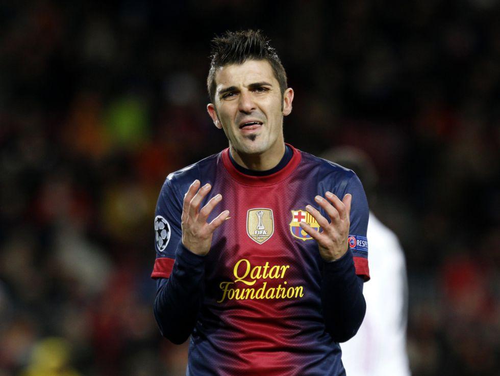Villa no entra en la lista de 20 al tener una elongación muscular