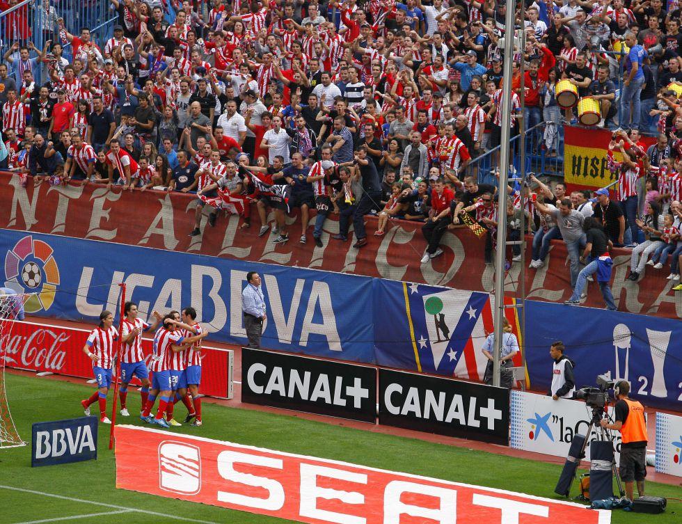 Partido 800 de Liga del Atlético de Madrid en el Calderón