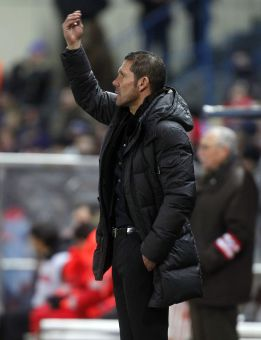 """Simeone: """"El primer tiempo del Atlético fue casi perfecto"""""""