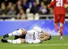 El Valencia cuida a Soldado de cara a la ida en el Bernabéu