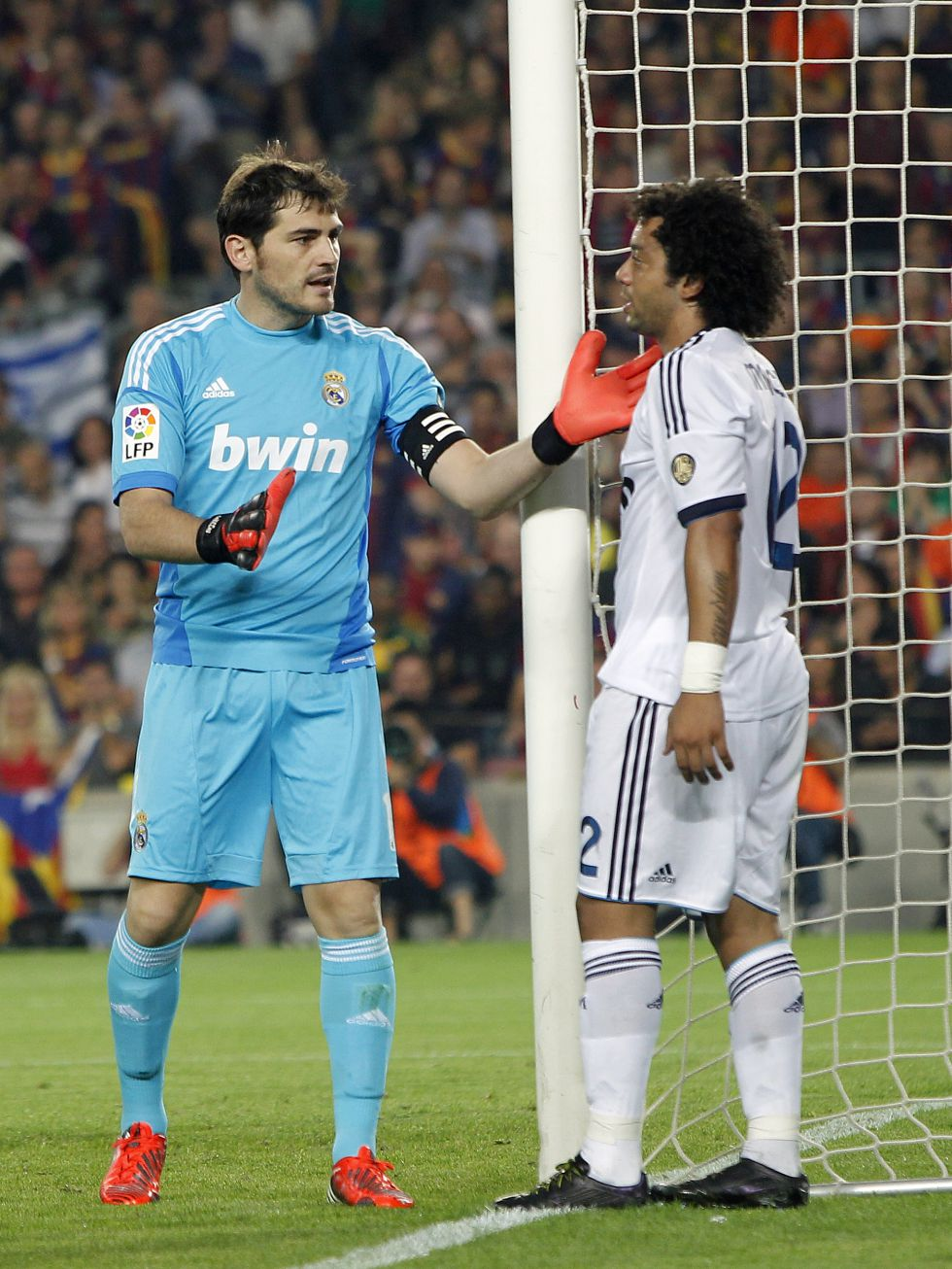 Con Casillas y Marcelo