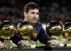 Leo Messi ofrece sus cuatro Balones de Oro al Camp Nou