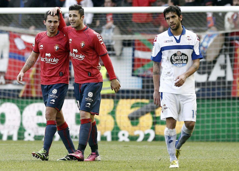 Osasuna sale del pozo de la tabla a costa del Deportivo