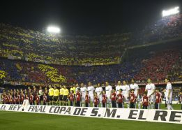 Vigésimo cruce copero entre el Real Madrid y el Barcelona