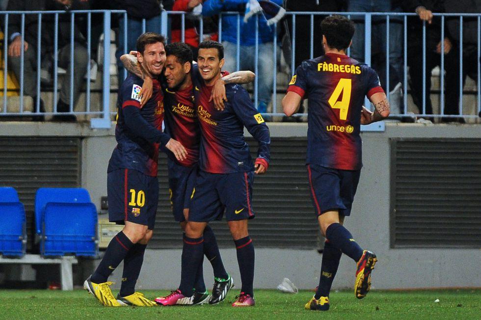 El Málaga obliga al Barça a sacar lo mejor de si mismo