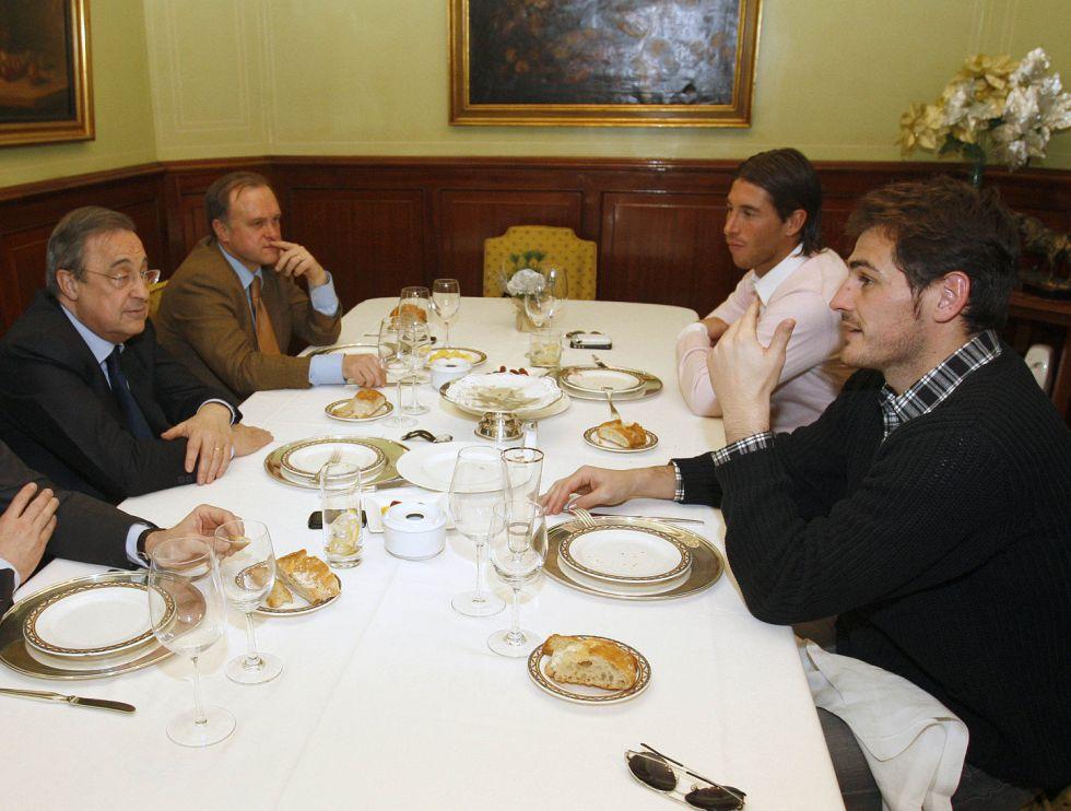 Sólo faltó el mánager en la comida de capitanes del Madrid