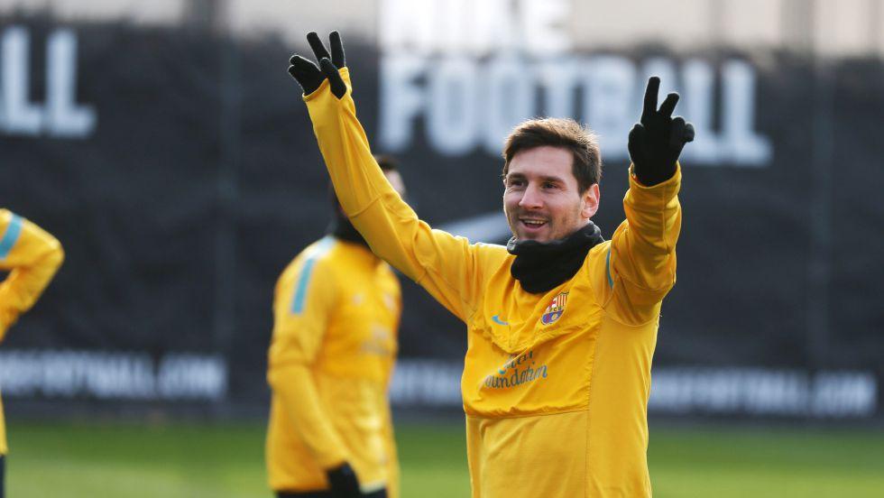 Messi vuelve a trabajar con el resto y podrá estar ante Osasuna