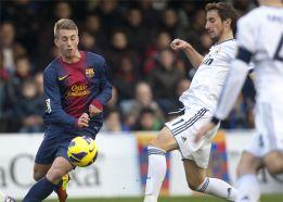 El Barcelona B le da la vuelta al partido ante un Castilla con diez