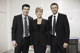El Banco Sabadell 'ficha' a Luis Enrique y Figo para su campaña