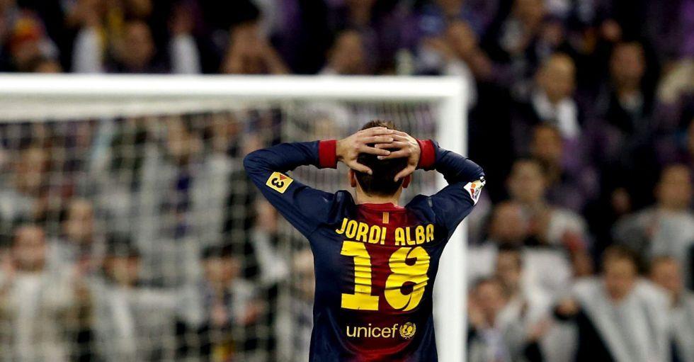"""Jordi Alba: """"Aún tengo la marca de los tacos de Michael Essien"""""""