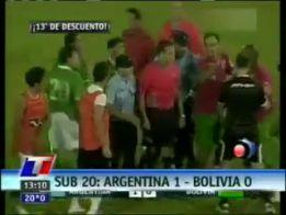 Este Argentina-Bolivia Sub-20 es uno de los partidos denunciados