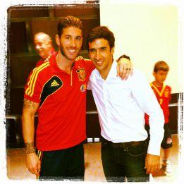 Raúl visitó a la Selección
