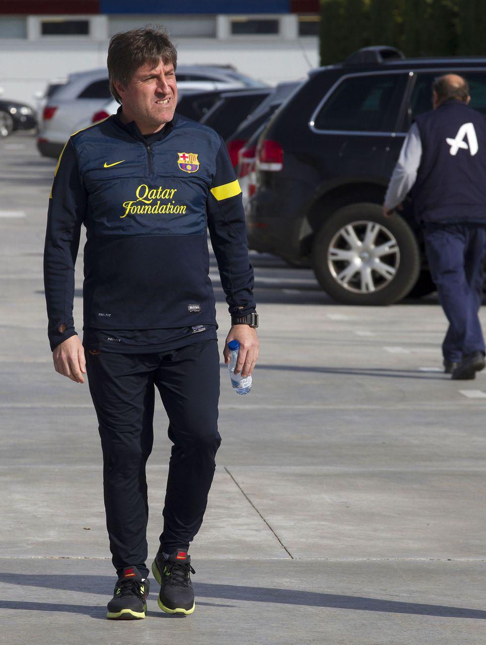Los jugadores disponibles se entrenaron con el Barça B
