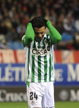 El Betis pierde a Rubén Castro para las tres próximas semanas