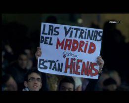 La afición del Madrid mostró su malestar por el vídeo de TV3
