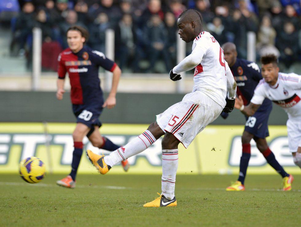 Balotelli vuelve a marcar, pero el Milán no le gana al Cagliari