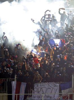 Ocho seguidores detenidos y quince expulsados de Mestalla