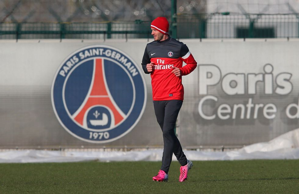 Beckham se entrena con el PSG entre un gran revuelo mediático