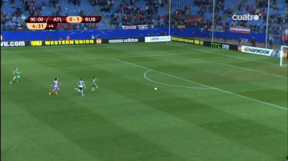 Asenjo subió al área en el 94' y el Atlético encajó el 0-2