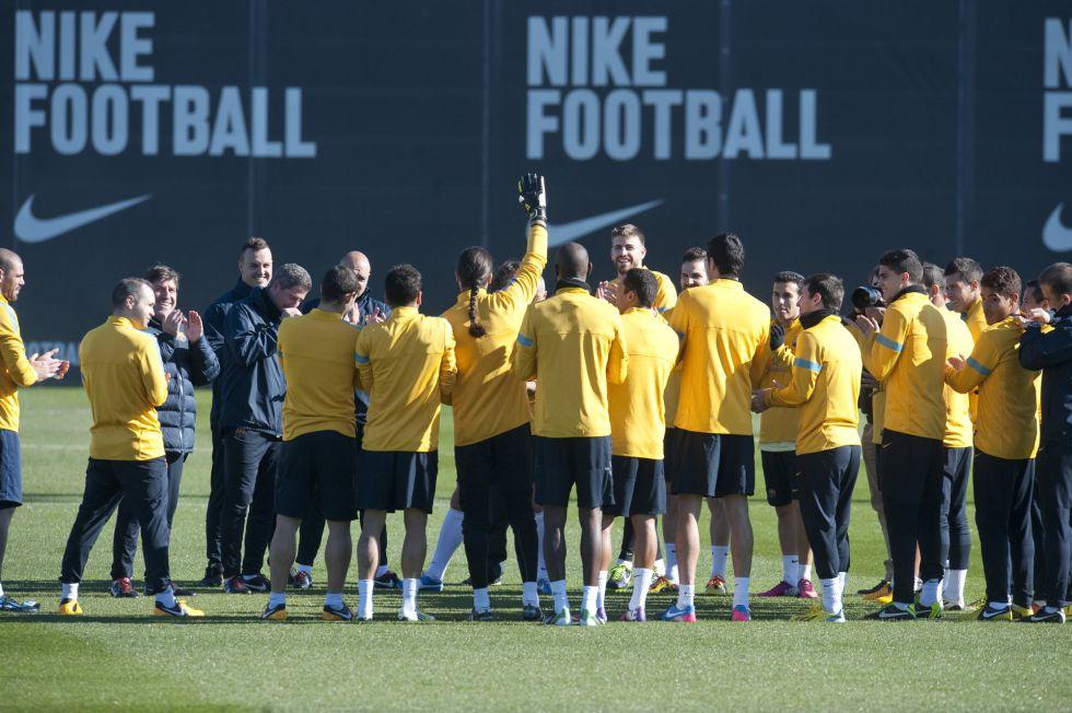 Diez jugadores del Barcelona pasan un control antidopaje