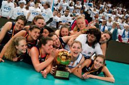 La hermana de Courtois ganó la Copa de Bélgica de voleibol
