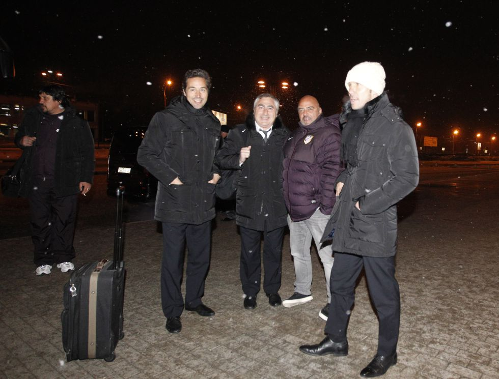 El Atlético de Madrid llegó a Moscú para una gesta histórica