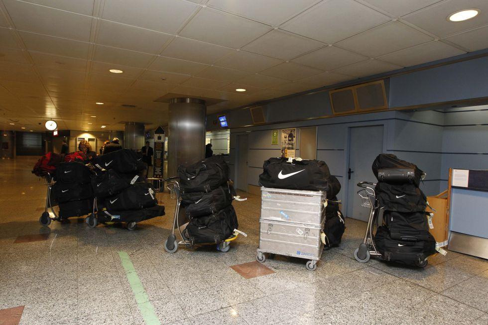El Atleti se lleva 700 kilos de equipaje para combatir el frío