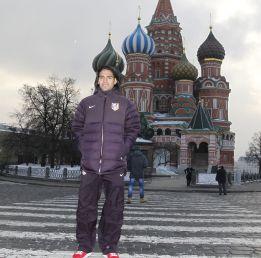 El equipo rojiblanco se relajó viendo la Plaza Roja de Moscú