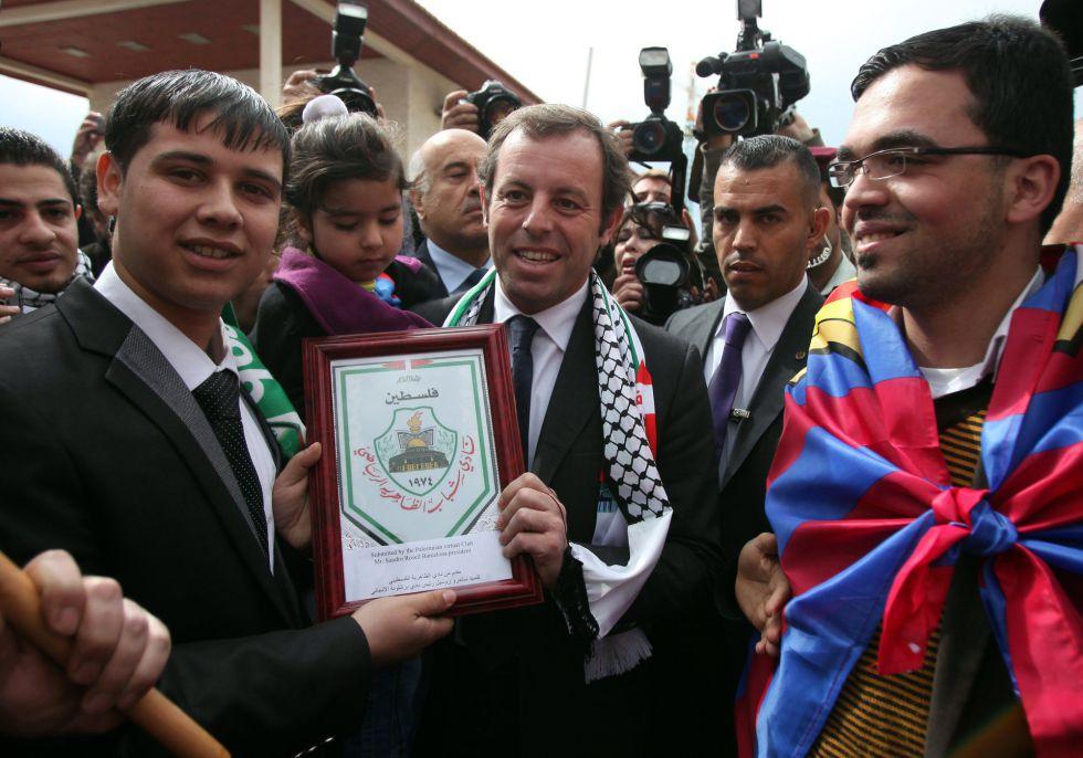 Palestina rechaza jugar con Israel contra el Barcelona