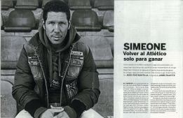 "Simeone: ""Sabía que volvería. Me dediqué a prepararme"""