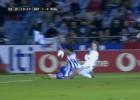El Real Madrid pidió penalti por mano del deportivista Kaká
