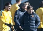 Tito Vilanova y Roura cocieron ayer la táctica del partido