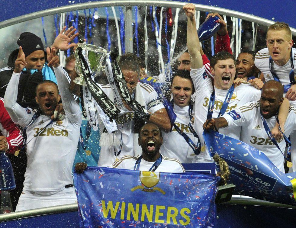 El Swansea desfilará mañana para celebrar la Copa de la Liga