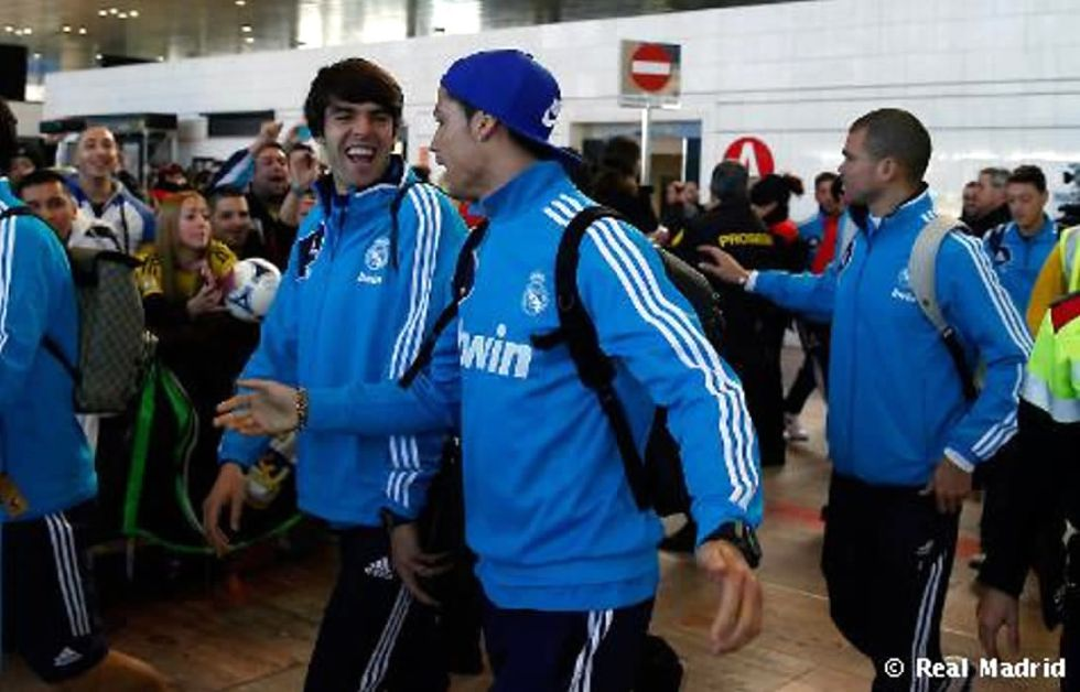 El Madrid llegó a Barcelona con las bajas de Marcelo y Albiol