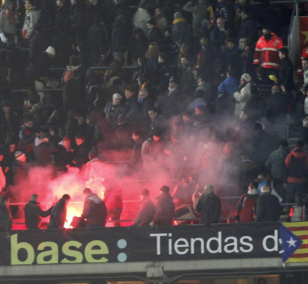 El Barça confirma: la bengala no partió del sector madridista