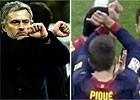En Italia, tres partidos a Mou por el gesto que hizo Piqué
