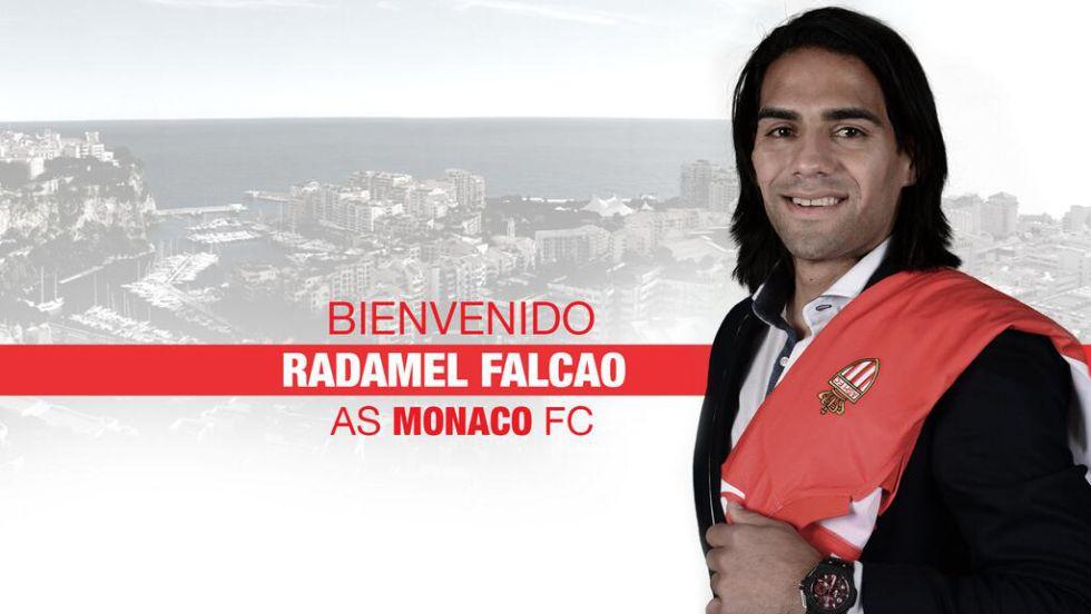 El Mónaco anunció el fichaje de Falcao por cinco campañas - AS.com