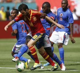 España ganó 2,5 millones de euros por el amistoso ante Haití