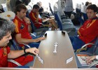 España llegó Barajas con el orgullo intacto tras el Mundial