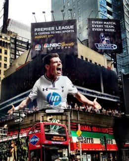 Gareth Bale salta a EE UU con un anuncio gigante en Times Square