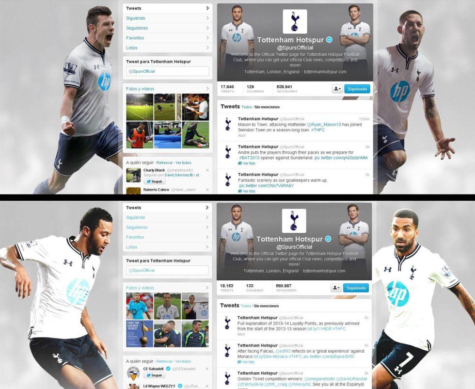 El Tottenham elimina a Bale de su página oficial de Twitter