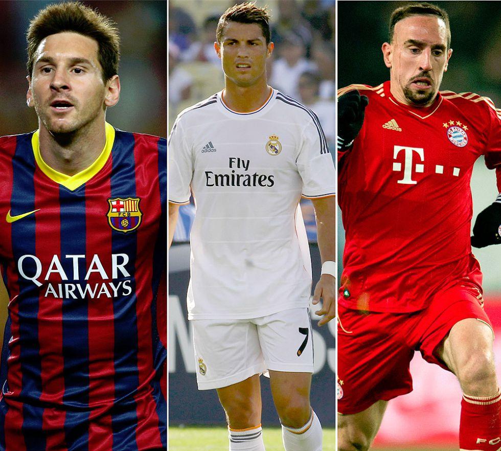Mejor jugador UEFA del año: Cristiano, Ribéry y Messi, la final