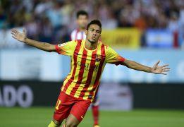 Neymar frustra el golazo de Villa