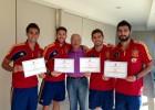 Iker, Arbeloa, Ramos y Albiol, diplomados deportivos