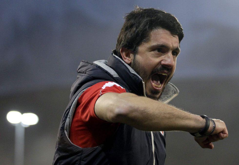 El Palermo despide a su entrenador, Gennaro Gattuso