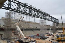 Las obras del estadio de Curitiba continúan con normalidad
