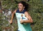 Carles Puyol pone hoy a prueba su rodilla en un amistoso