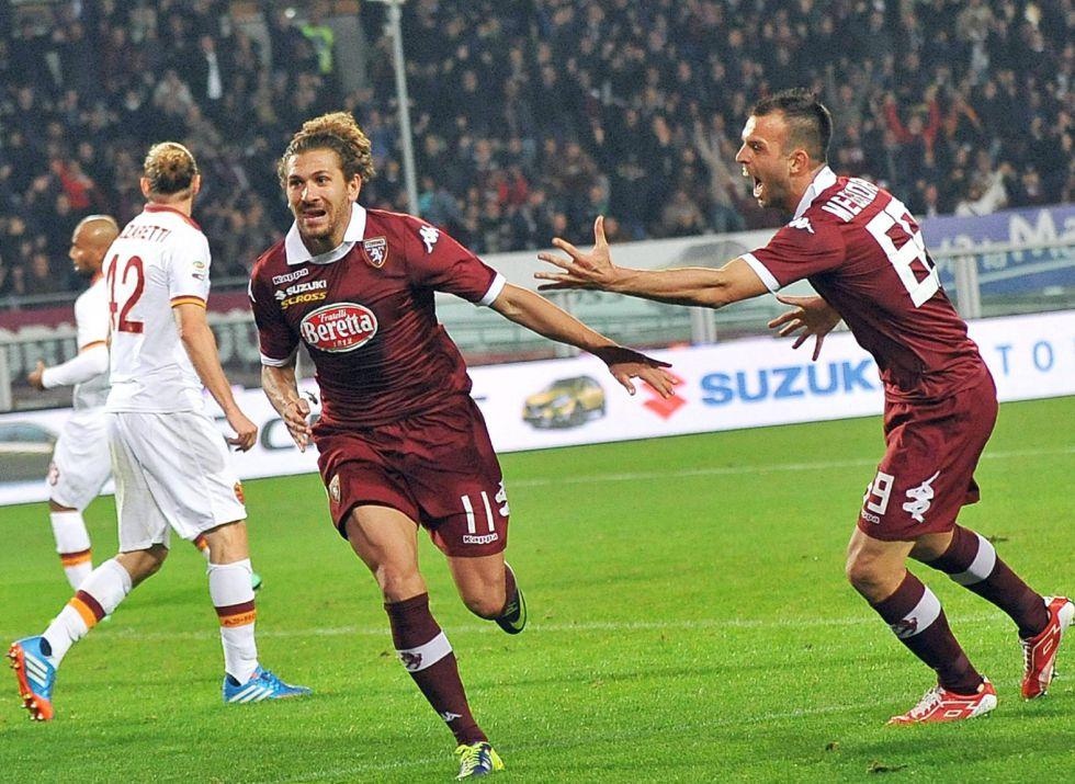 Un gol de Cerci, del Torino, frena el histórico récord del Roma